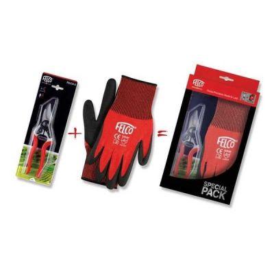Nožnice a rukavice FELCO 6 + FELCO 701 M darčekový set