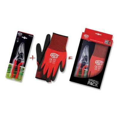 Nožnice a rukavice FELCO 8 + FELCO 701 XL darčekový set