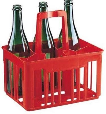 Prepravka červená na 6 fliaš